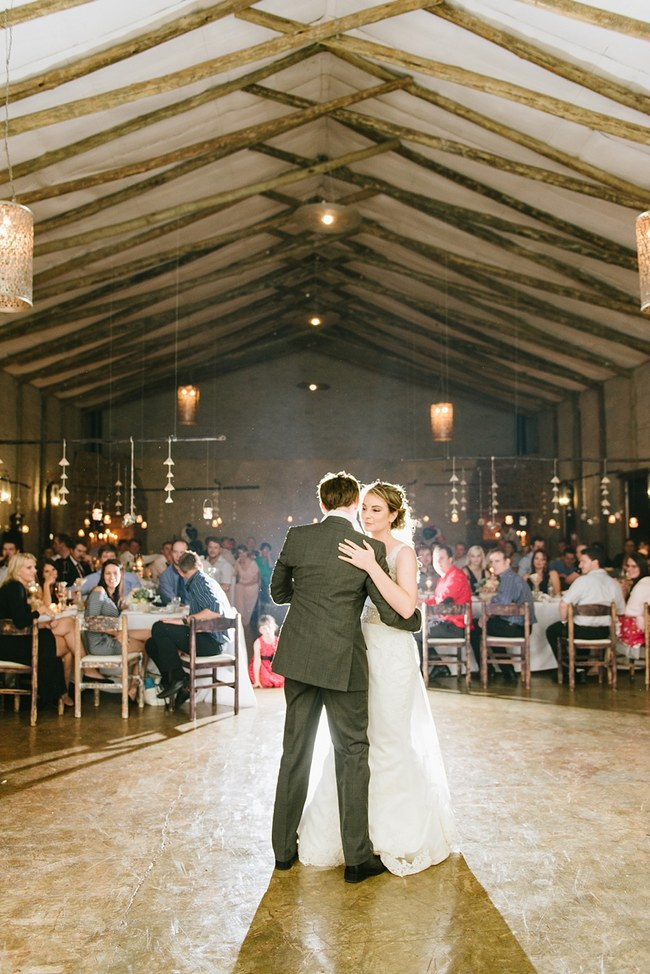 Pretty paper Flower, Rustic Blush Farm Wedding :: South Africa :: Louise Vorster Photography :: Seen on ConfettiDaydreams.com