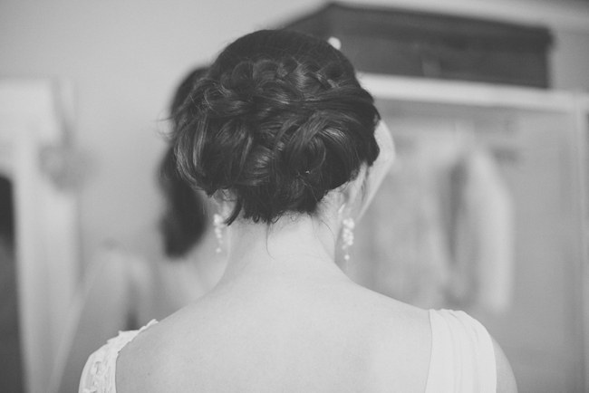 Gorgeous Bridal Upstyle :: Pretty Pastel and Powder Blue DIY South African Wedding captured by Nadine Aucamp Photography :: Published on Confetti Daydreams Wedding Blog