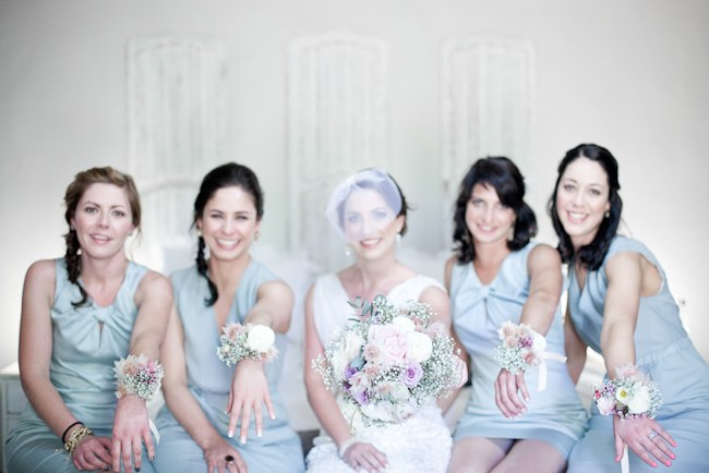 Powder Blue Bridesmaid dresses  :: Pretty Pastel and Powder Blue DIY South African Wedding captured by Nadine Aucamp Photography :: Published on Confetti Daydreams Wedding Blog