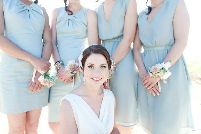 Bridesmaids Dresses :: Pretty Pastel and Powder Blue DIY South African Wedding captured by Nadine Aucamp Photography :: Published on Confetti Daydreams Wedding Blog