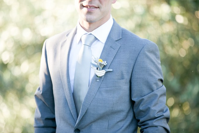 Grey Grooms Attire  :: Pretty Pastel and Powder Blue DIY South African Wedding captured by Nadine Aucamp Photography :: Published on Confetti Daydreams Wedding Blog