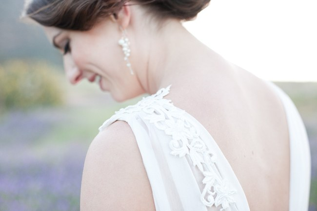 Gorge wedding dress sleeve detailing :: Pretty Pastel and Powder Blue DIY South African Wedding captured by Nadine Aucamp Photography :: Published on Confetti Daydreams Wedding Blog