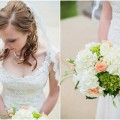 Teal and Peach Wedding by Everlasting Love Photography  via ConfettiDaydreams Wedding Blog