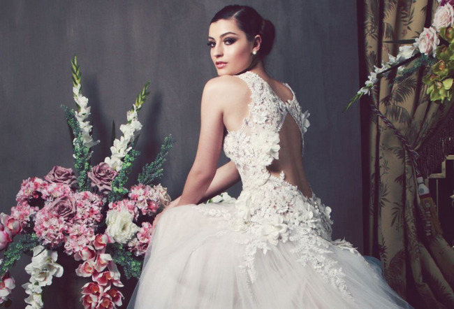 Unbelievable Backless Wedding Dresses for 2014 (5)