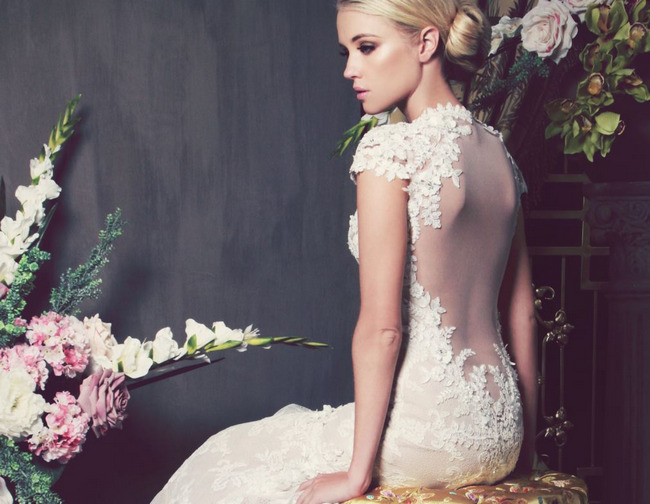 Kobus Dippenaar's South African Backless Wedding Gown - one of many Seriously HAWT and Unbelievable Backless Wedding Dresses for 2014 on ConfettiDaydreams.com