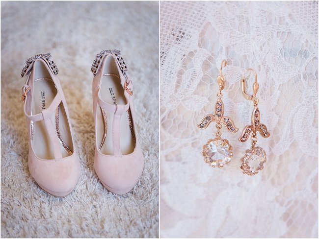 Blush Wedding Shoes // Vintage Elegance Neutral South African Wedding //Lauren Kriedemann photography // via www.ConfettiDaydreams.com //