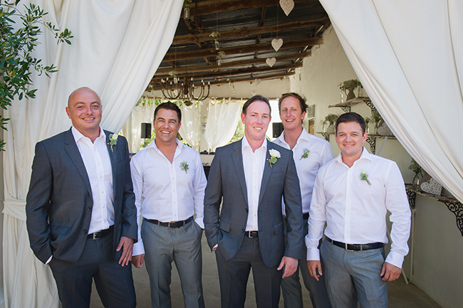 Groomsmen // Vintage Elegance Neutral South African Wedding //Lauren Kriedemann photography // via www.ConfettiDaydreams.com //