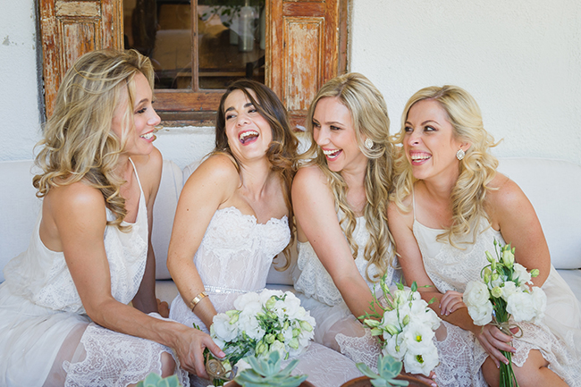 Candid Bridesmaid Portraits // Vintage Elegance Neutral South African Wedding //Lauren Kriedemann photography // via www.ConfettiDaydreams.com //