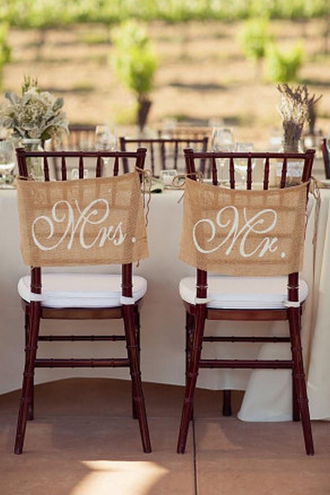 Wedding Chair Decor Covers Signs  3