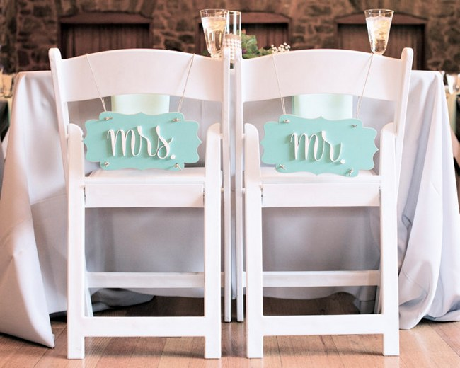 Wedding Chair Decor Covers Signs  5