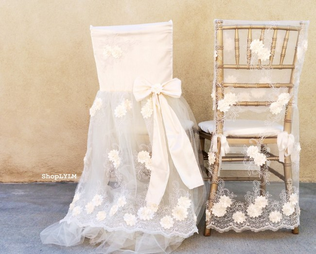 10 Adorable Wedding Chair Signs amp Covers