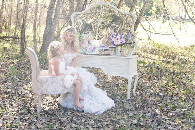 Flower Girl  Enchanted Forest Bride :: Anna Georgina Wedding Dress :: Hair and make-up by Karenza :: Veronique Photography :: www.ConfettiDaydreams.com