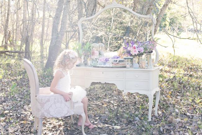 Enchanted Forest Bride :: Anna Georgina Wedding Dress :: Hair and make-up by Karenza :: Veronique Photography :: www.ConfettiDaydreams.com