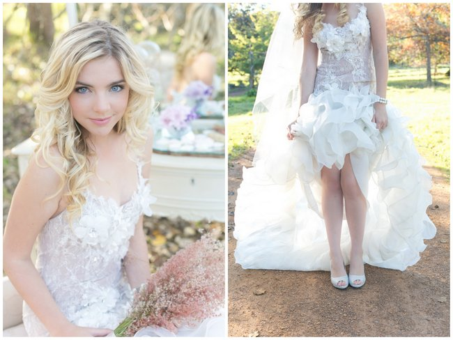 Wedding Gown Spotlight: Enchanted Forest Romance by Anna Georgina {Veronique Mills Photography}