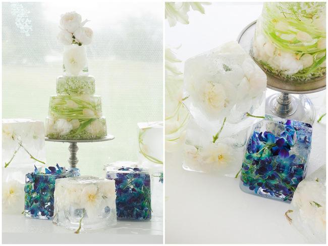 Frozen Cake // Amazing Blue and Purple Orchid Wedding Ideas // ST Photography // Fleur Le Cordeur // Nina Brown Style Coach // Lisa Brown //