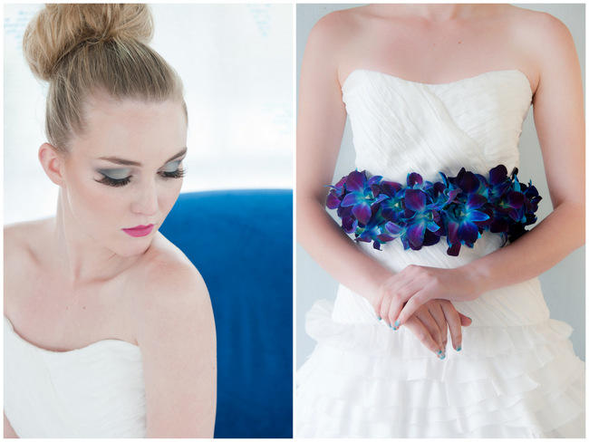 Orchid Belt // Amazing Blue and Purple Orchid Wedding Ideas // ST Photography // Fleur Le Cordeur // Nina Brown Style Coach // Lisa Brown //