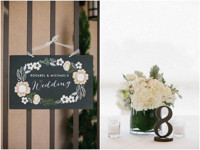 Wedding Reception Decor  Dreamy Blush Pink Grey California Wedding   Marianne Wilson Photography via ConfettiDaydreams.com