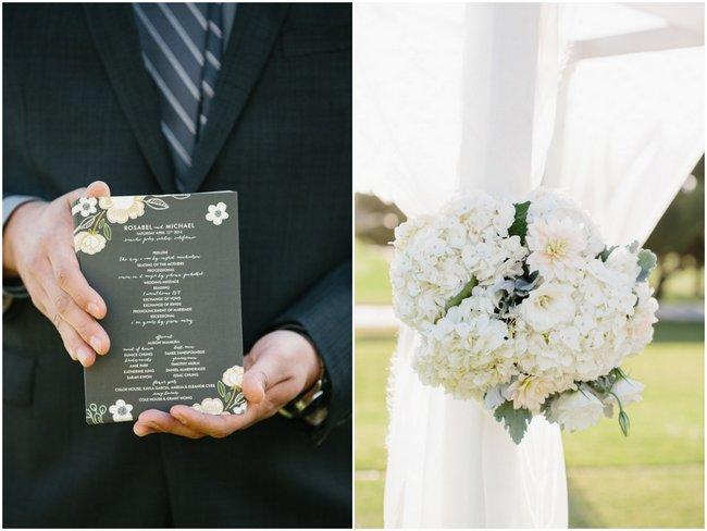 Outdoor Wedding Ceremony   Dreamy Blush Pink Grey California Wedding   Marianne Wilson Photography via ConfettiDaydreams.com
