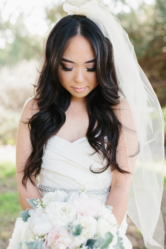 Vera Wang Gown   Dreamy Blush Pink Grey California Wedding   Marianne Wilson Photography via ConfettiDaydreams.com