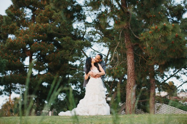 Outdoor Couple Portraits | Dreamy Blush Pink Grey California Wedding | Marianne Wilson Photography via ConfettiDaydreams.com