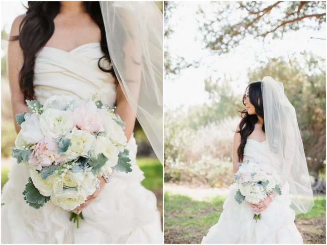 Bouquet | Dreamy Blush Pink Grey California Wedding | Marianne Wilson Photography via ConfettiDaydreams.com