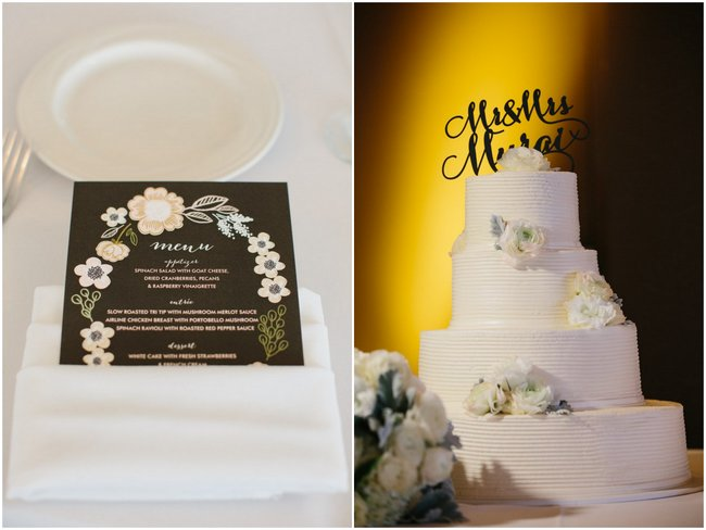 Cake & Wedding Reception Decor| Dreamy Blush Pink Grey California Wedding | Marianne Wilson Photography via ConfettiDaydreams.com