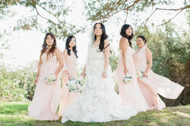 Dreamy Blush Pink & Gray Outdoor California Wedding {Marianne Wilson Photography}
