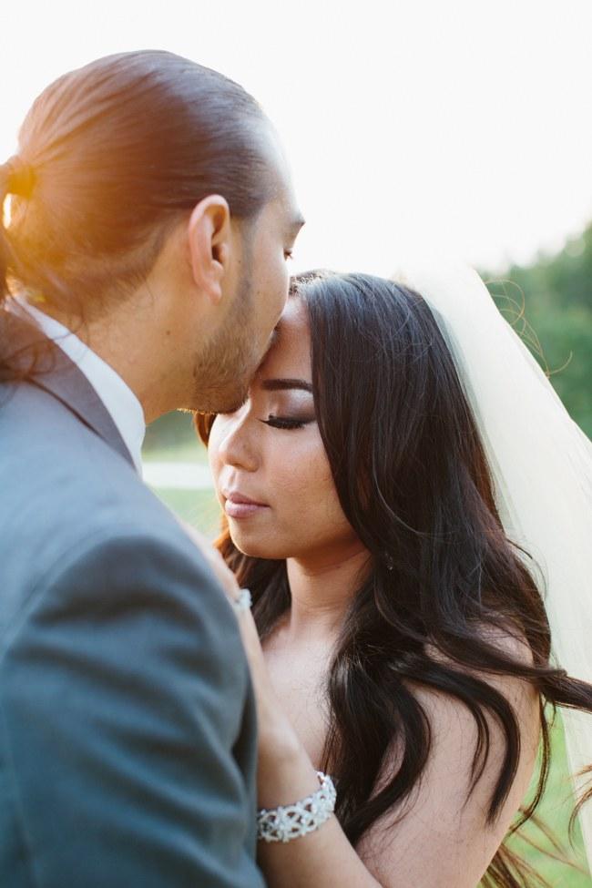 Outdoor Couple Portraits   Dreamy Blush Pink Grey California Wedding   Marianne Wilson Photography via ConfettiDaydreams.com