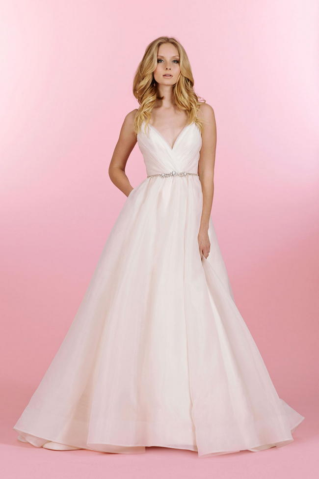 Delectably feminine hayley paige and blush by hayley for Hayley paige wedding dresses