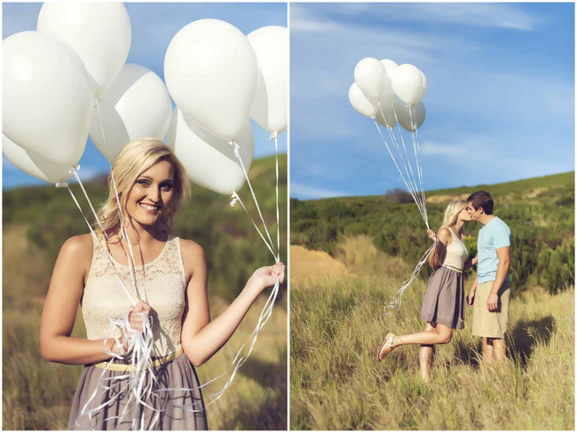 Bunnies and Balloons Engagement Shoot Ideas // Claire Thomson Photography