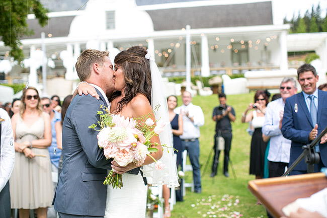 Outdoor Wedding Ceremony / Totally Gorgeous Glitter Blush Pink Gold South African Wedding / Adene Photography /