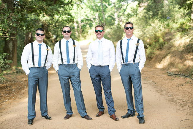 Groomsmen Outdoor Wedding Ceremony / Totally Gorgeous Glitter Blush Pink Gold South African Wedding / Adene Photography /