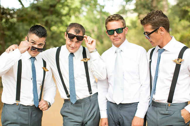 Groomsmen Attire Outdoor Wedding Ceremony / Totally Gorgeous Glitter Blush Pink Gold South African Wedding / Adene Photography /