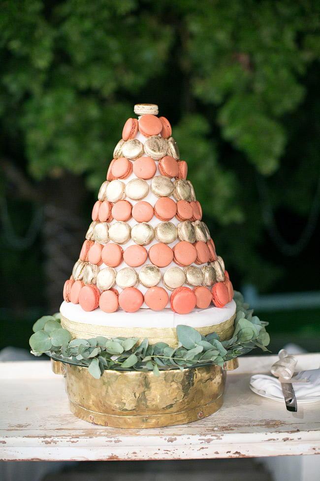 Glitter Macaron Cake / Glitter Blush Gold South African Wedding (37)