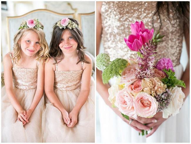 Flower Girls / Totally Gorgeous Glitter Blush Pink Gold South African Wedding / Adene Photography /