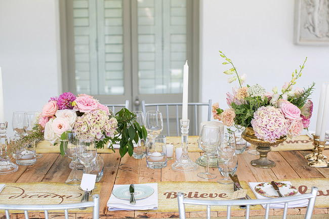 Wedding Decor Outdoor Spring Tablescape Totally Gorgeous Glitter Blush Pink Gold South African