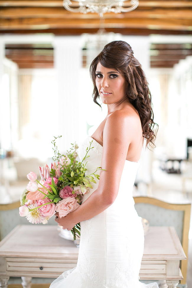 Blush Pink Bouquet by Anli Wahl / Totally Gorgeous Glitter Blush Pink Gold South African Wedding / Adene Photography /