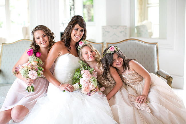 Glittering Flower girls / Totally Gorgeous Glitter Blush Pink Gold South African Wedding / Adene Photography /