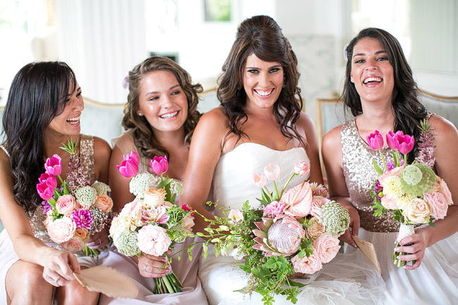 Glitter Blush Gold South African Wedding - Adene Photography
