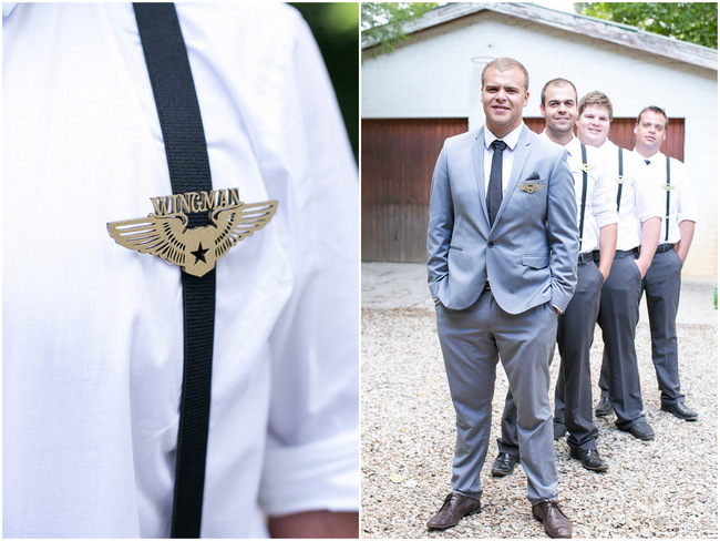 Wingman Groomsmen Badges // Adene Photography