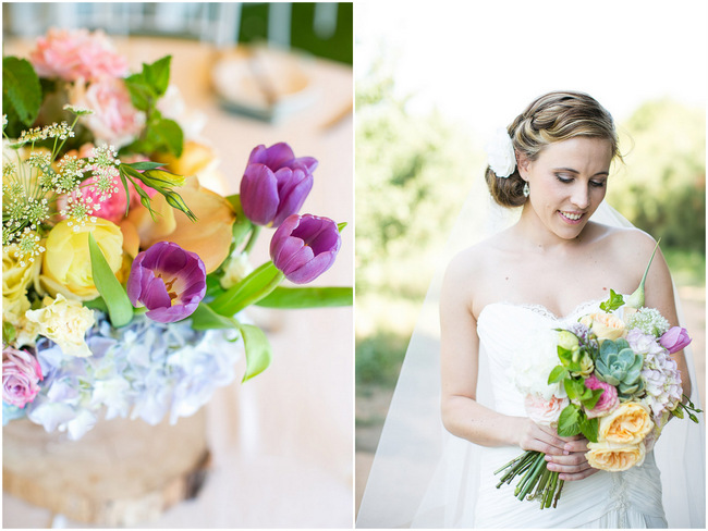 Beautifully Bright & Cheerful Outdoor Garden Wedding at Olive Rock {Adene Photography}