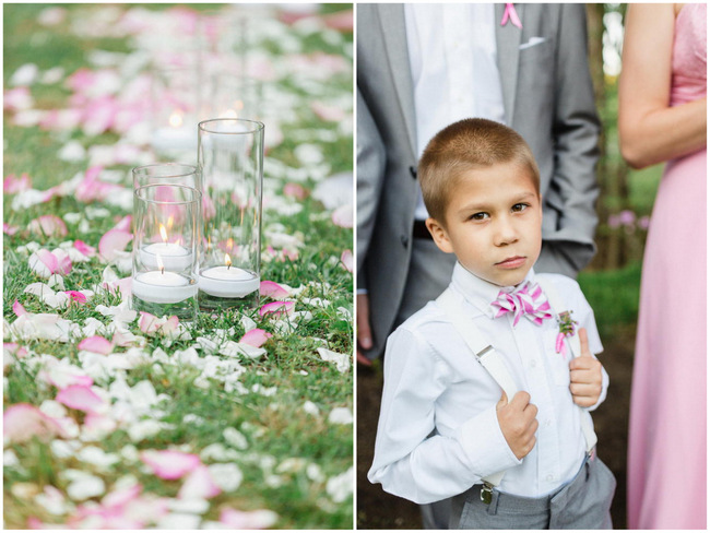 Outdoor Ceremony // Old Southern Charm Garden Wedding in Pink and Gray // JoPhoto