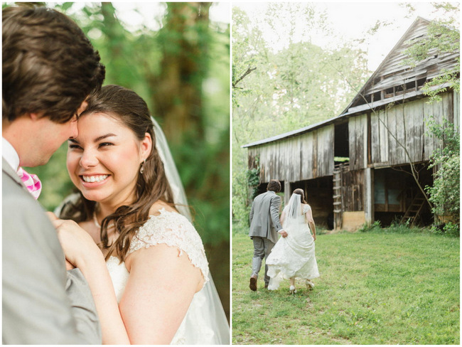 Outdoor Couple Portraits  // Old Southern Charm Garden Wedding in Pink and Gray // JoPhoto
