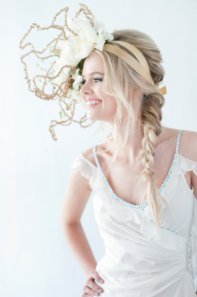 Radiant Bride Fashion Editorial :: ST Photography :: Fleur le Cordeur Headpiece Florals :: Hair by Licia Van der Merwe :: Lisa Brown Make-up Artist :: Nina Brown Stylist ::