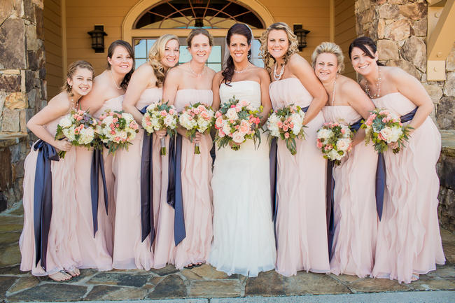Rustic Country Wedding In Blush And Navy {Meet The Burks ...