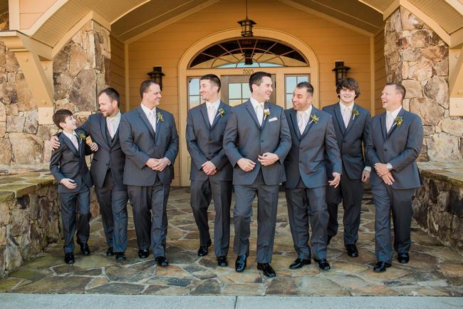 Groomsmen attire // Rustic Country Wedding in Blush Navy // Meet The Burks Photography