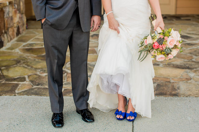 Navy Blue Wedding Shoes // Rustic Country Wedding in Blush Navy // Meet The Burks Photography