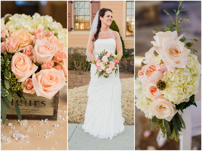 Rustic Country Wedding in Blush and Navy {Meet The Burks Photography}