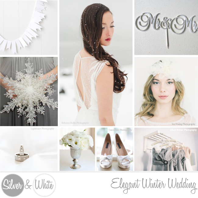 Silver Grey and White Winter Wedding Ideas ConfettiDaydreams