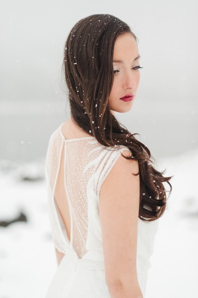 Silver Grey and White Winter Wedding Ideas ConfettiDaydreams - Rebecca Hollis Photography